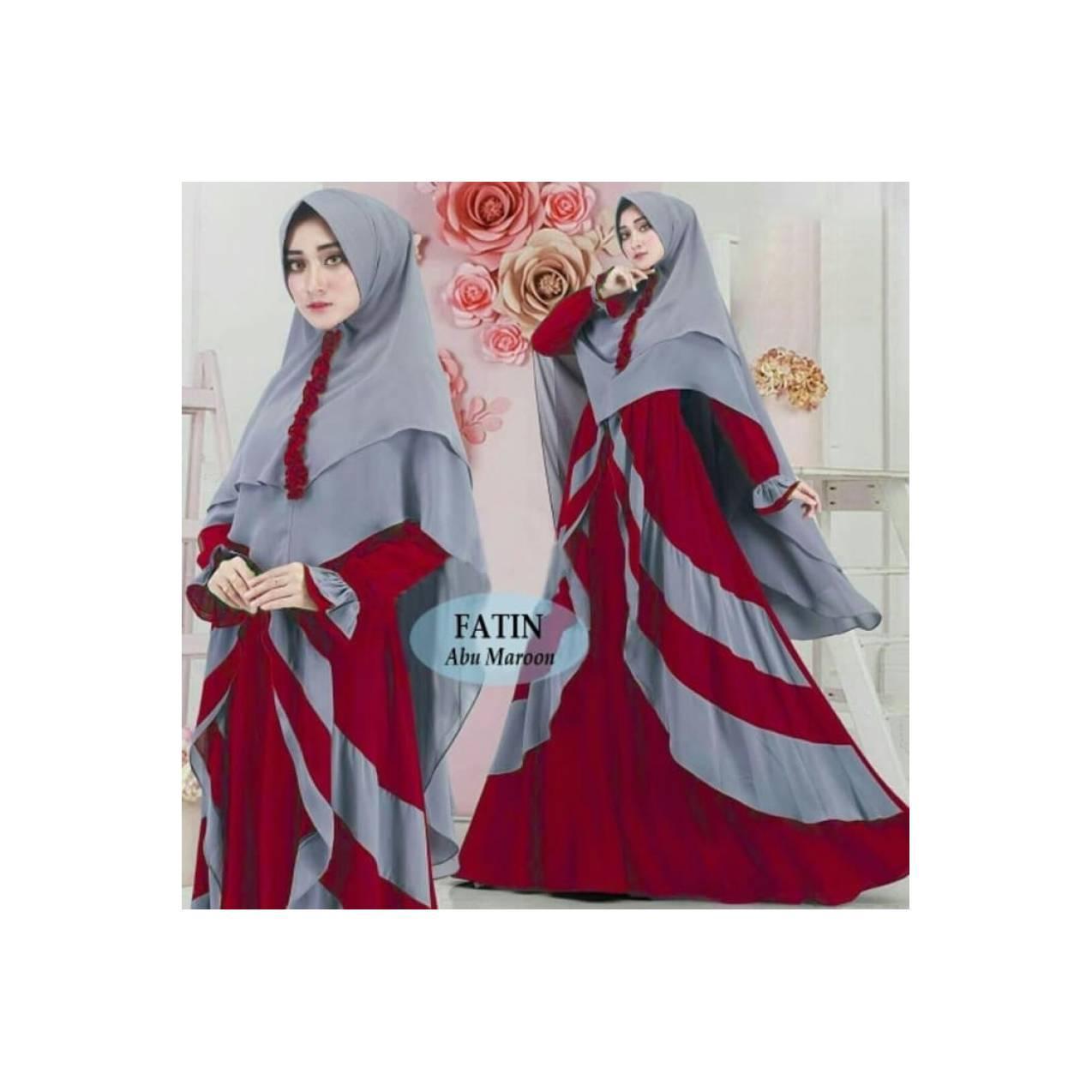 Gamis syari terbaru Fatin Abu Maroon(konveksi,suplayer,murah)