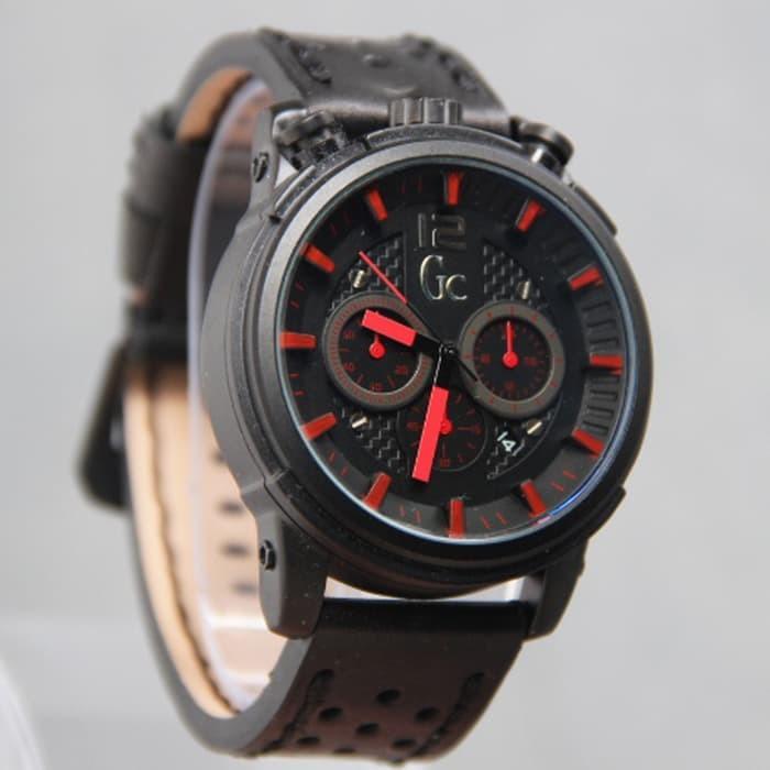 jam tangan pria / jam tangan pria casio / jam tangan pria anti air / jam tangan pria keren / jam tangan pria sport / jam tangan pria swiss army / jam tangan pria fossil / Jam GC Chrono Aktif SK01 Leather Black List Red DISKON MURAH!!!