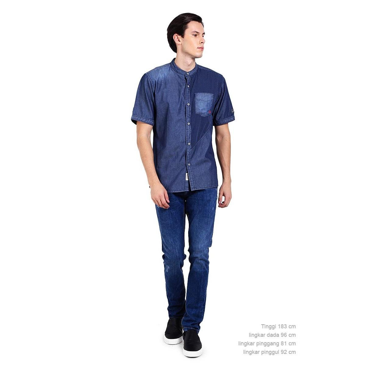 Bushido Jeans BD17SH020RB Short Sleeve Shirt Navy