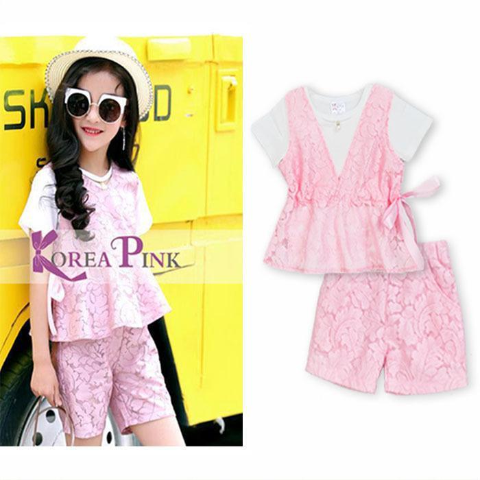 Setelan Baju Anak Korea Import Setelan Baju Anak Blouse Import Blouse Anak  Pink Brocade Celana Anak fabddab4a8