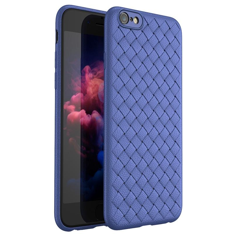WOVEN Case iPhone 7 iPhone 8 Softcase Back Cover Casing Silicone TPU Jelly Grid Line