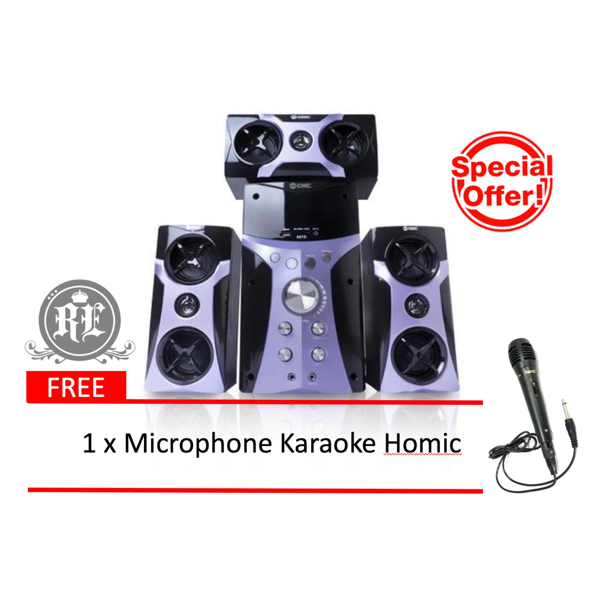 GMC 887D Multimedia Speaker / Speaker Aktif 3.1ch ( Bluetooth & Karaoke )