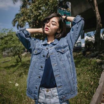 Daftar Harga 9 Shop Jaket Jeans Denim Big Size Wanita ZHARA SNOW - DARK  BLUE (Kualitas Premium)   Jaket Jumbo Wanita   Jaket Oversize Wanita   Jaket  Denim ... 69746bd956