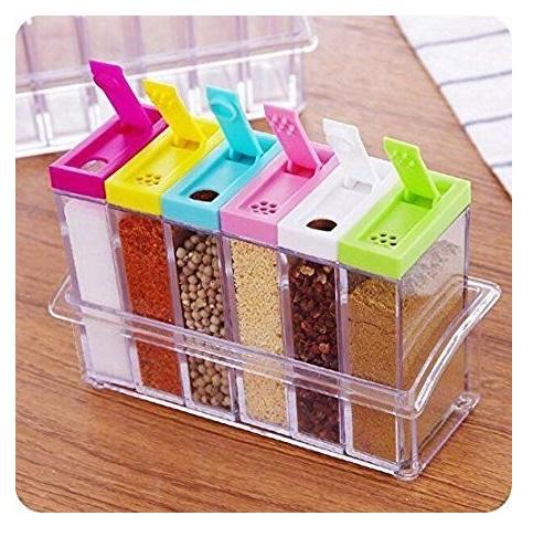 Rak Tempat Bumbu 6 In 1 Seasoning Box Serbaguna By = I2y Store =.