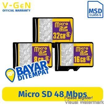 Harga preferensial V-Gen Micro SD 32GB Class 6 Memory Card terbaik murah - Hanya Rp68.849
