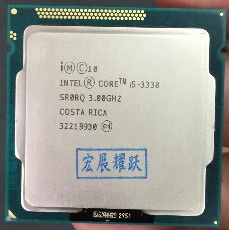 Intel Core I5 3330 I5-3330 Processor (6 M Cache, 3.2 GHz) LGA1155 CPU 100% Bekerja dengan Baik Komputer PC CPU Desktop