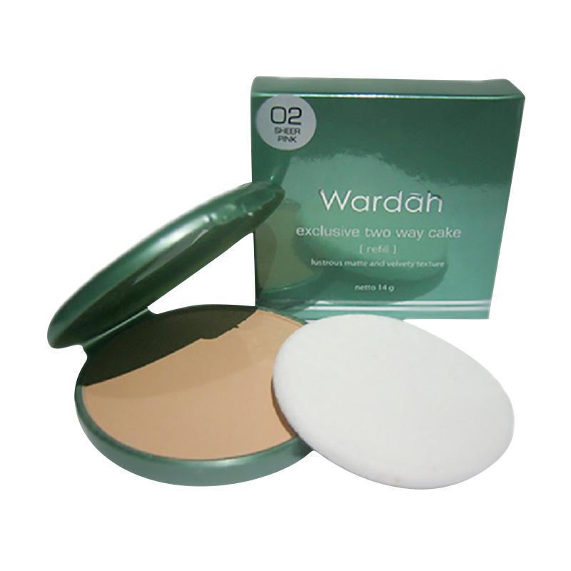 Wardah Exclusive Refill Two Way Cake - 02 SHEER PINK