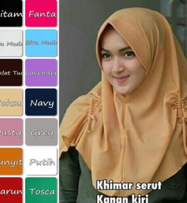 BelovedFashion - Midi khimar serut samping JILBAB HIJAB No.24
