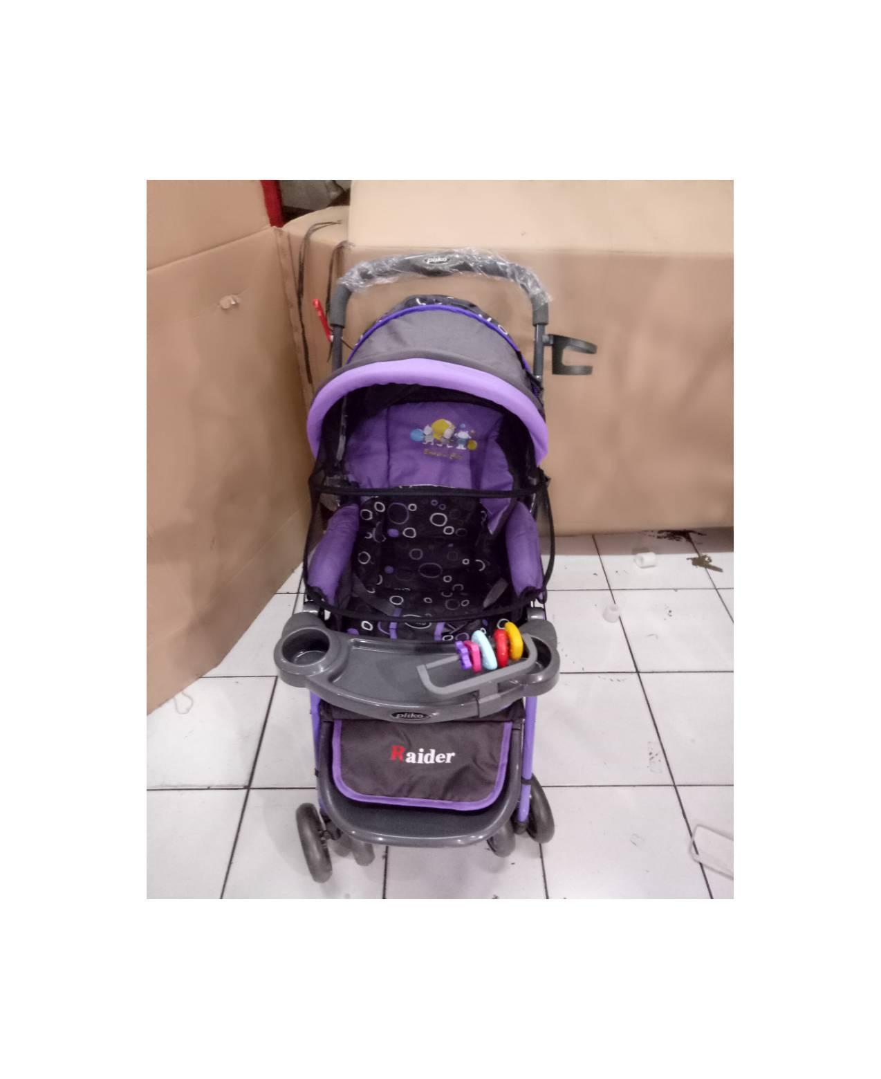 kereta dorongan bayi/baby stroller pliko 228 raider kelambu roda 4