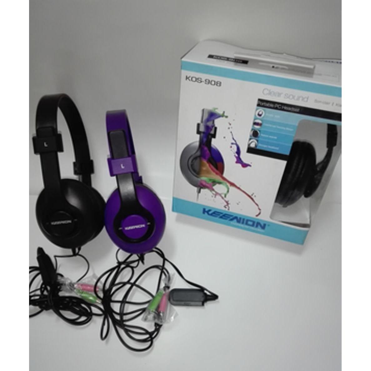 Keenion Headset Kos 699 Hitam Daftar Update Harga Terbaru Dan 803 Headphone Original Blue 908