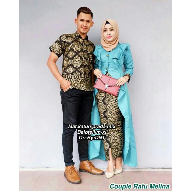 TERMURAH - Batik Couple - Couple Batik - Baju Muslim Wanita Terbaru 2018 - Batik Murah - Batik Sarimbit - Baju Batik Modern -Batik Kondangan - Batik Keluarga - Batik Pekalongan - Baju Batik Ratu Melina Tosca