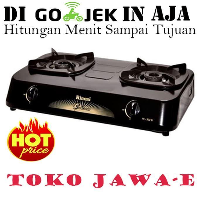 ASLI!!! Rinnai RI-302S Kompor Gas 2 Tungku Sun Burner (Ukuran Mini) - VNC5ok