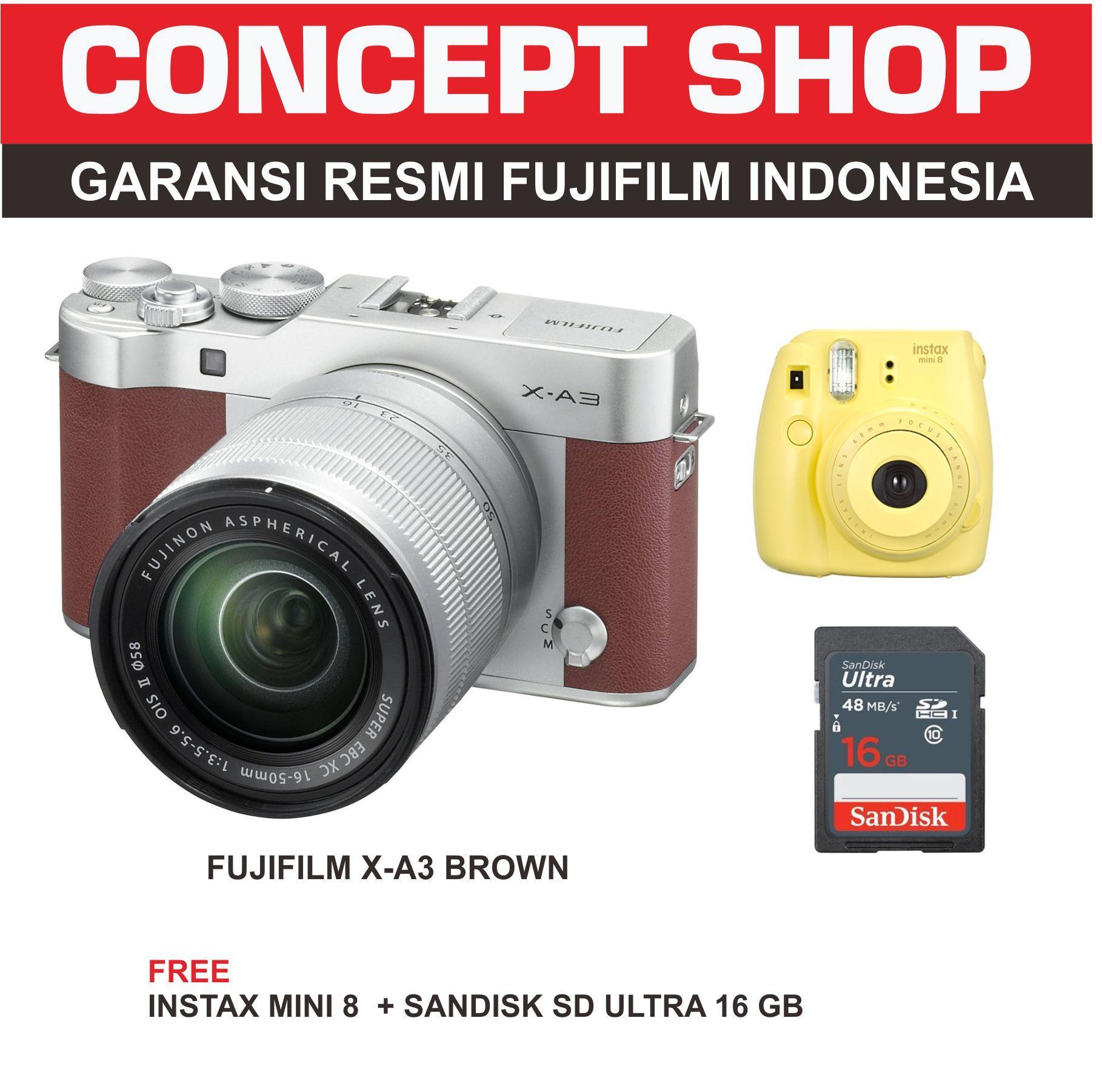 Fujifilm X-A3 Kit 16-50mm BROWN / XA 3 / XA3 + mini 8