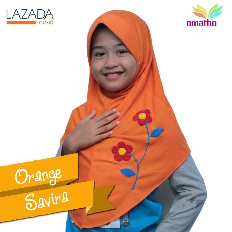 Kerudung Jilbab instan Anak cantik warna Orange