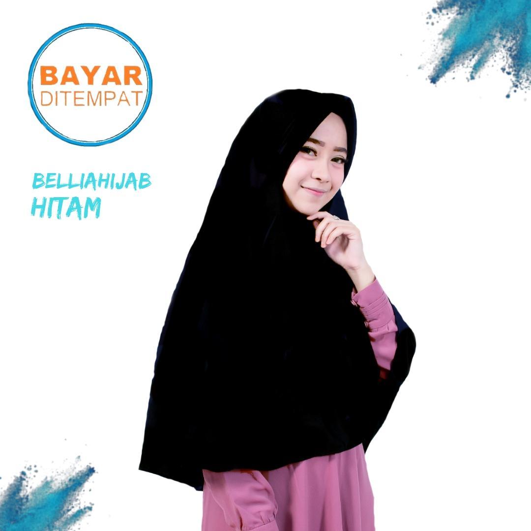 Belliahijab Grosir Jilbab XL Najwa Khimar Instan - Kerudung Hijab Instan XL Kaos Katun