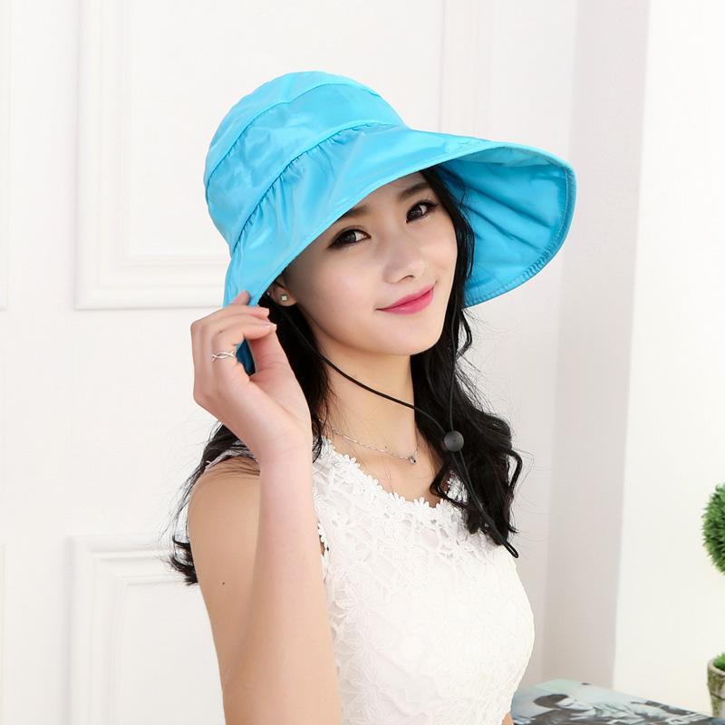 Topi Pantai Pria atau Wanita Anak Topi Pelindung Sinar Matahari Matahari Dewasa Satu Sisi (Dewasa Satu Sisi Memakai Warna Beras)