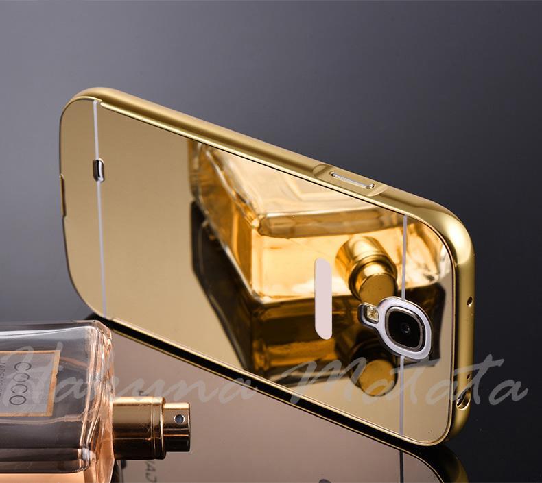 Case Mirror for Samsung Galaxy S4 Metal Bumper Sliding Casing