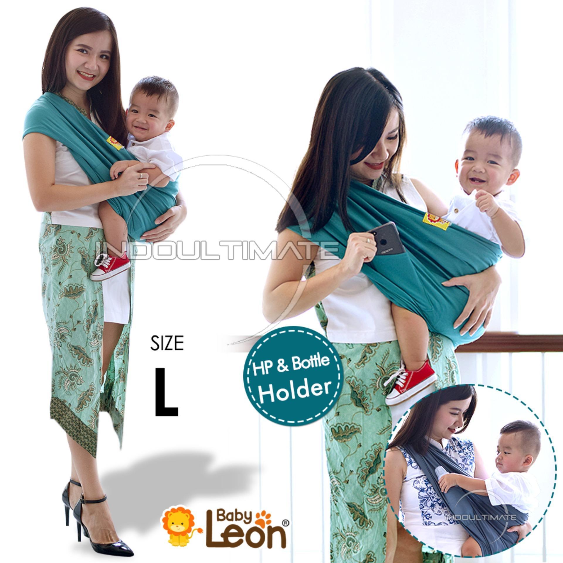 Baby Leon Gendongan Bayi Kaos/geos/selendang Bayi Praktis By 44 Gb Polos Ukuran L By Indo Ultimate.