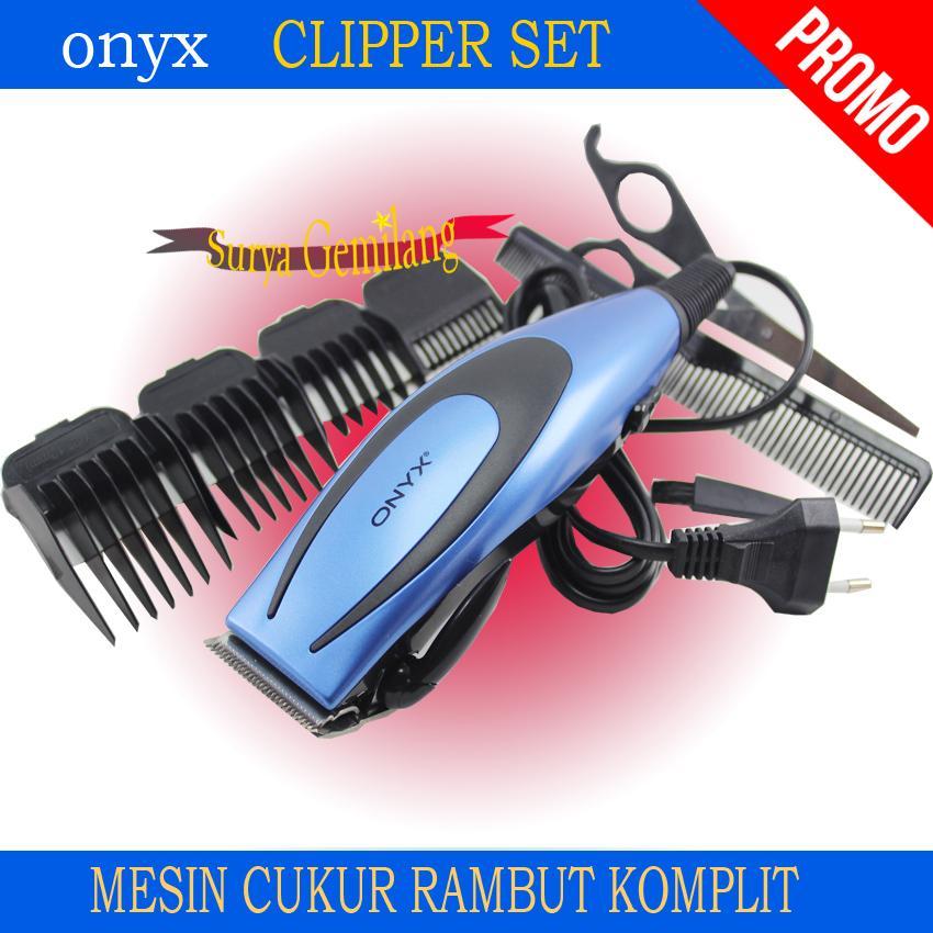 Alat Cukur Rambut Onyx 4616   Hair Clipper Elektrik Set   Mesin Pencukur  Rambut Komplit d16a686341