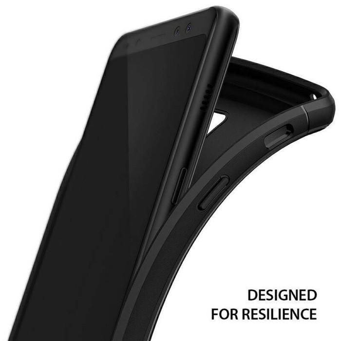 Case Slim Black Matte Samsung A8+ A8 PLUS 2018 Softcase Anti minyak