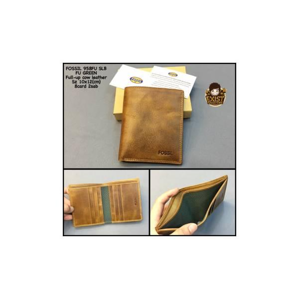 Dompet Cowok Fossil 858Fuslb Green Kw Super Dompet Kulit Dompet Pria