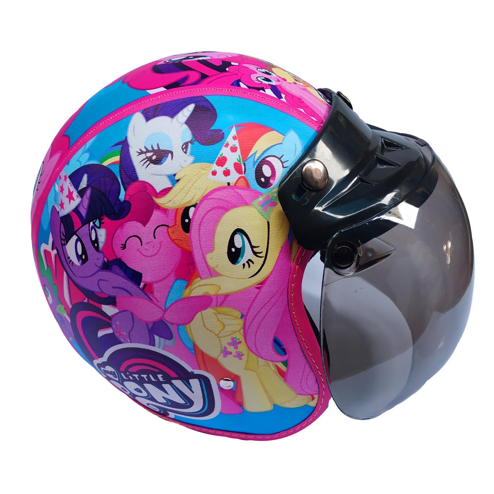 Helm Anak Bogo Motif Little Pony Pink Usia 2-7 Tahun Lapis Kulit Sintesis