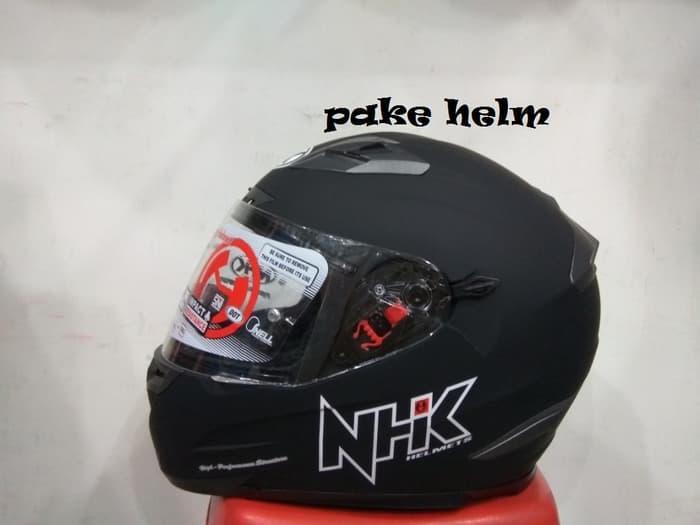 HELM NHK RX 9 SOLID HITAM DOFF FULL FACE RX9 Terlaris di Marketplace Lazada