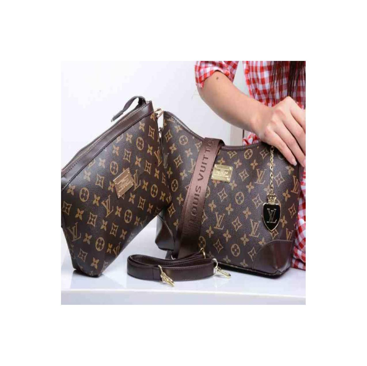 TAS WANITA BRANDED IMPORT SELEMPANG LOUIS VUITTON 372180-1 MURAH