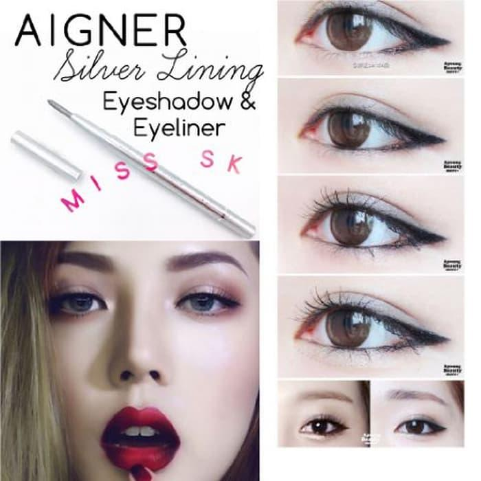 [ SILVER ] Aigner Silver Lining Eyeshadow & Eyeliner 2in1 Pencil
