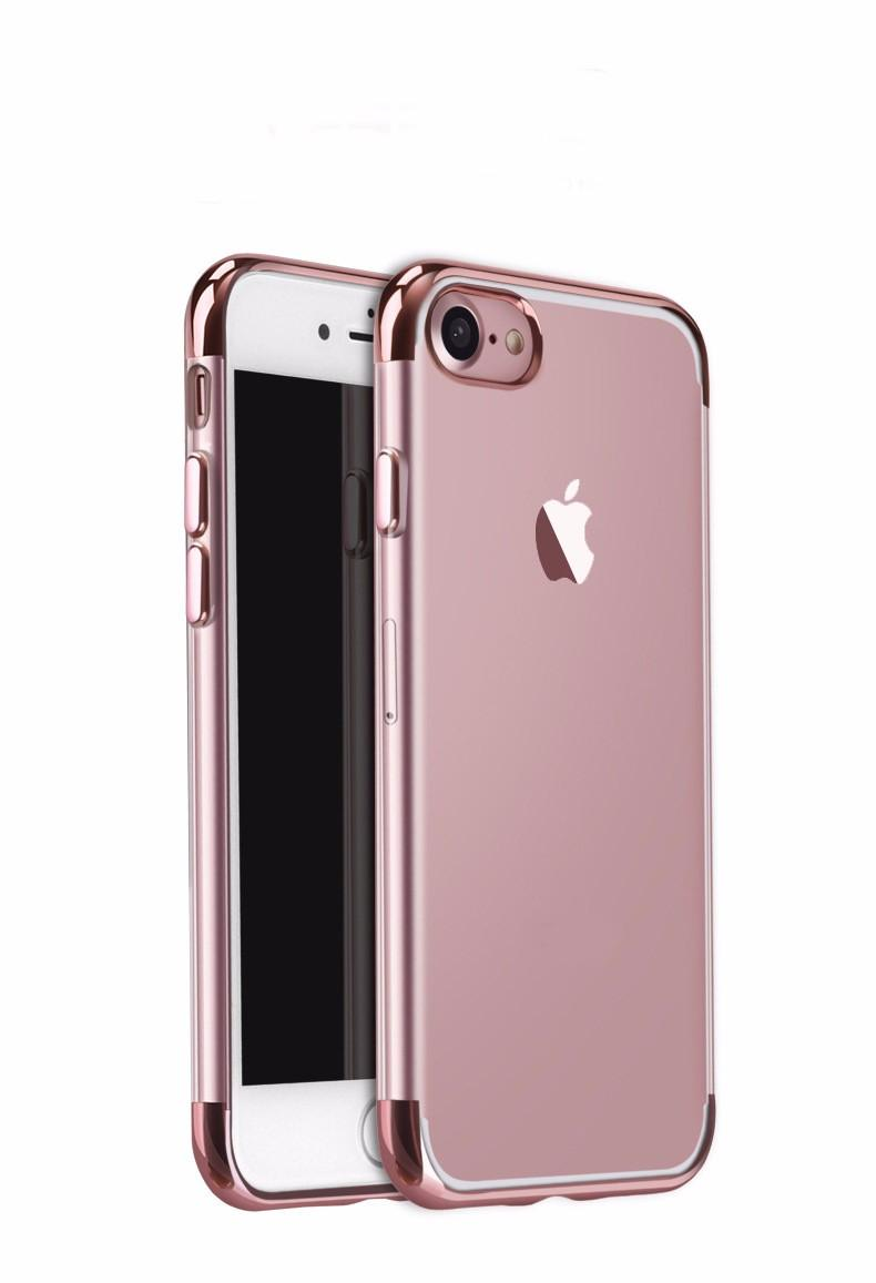 Softcase Neon Bening Iphone 7 Case Silicon Casing List Warna - ROSE GOLD