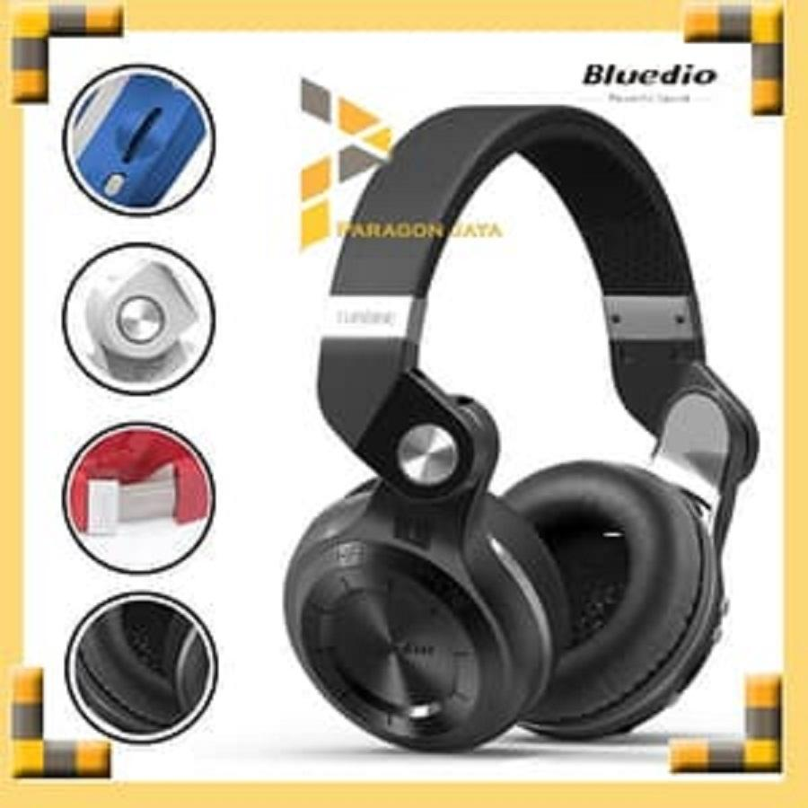 Bluedio Turbine T2 Plus Headphoneheadset Bluetooth 41 With Sd Edifier Earset H185p Biru Hurricane Headphone Wireless Hitam