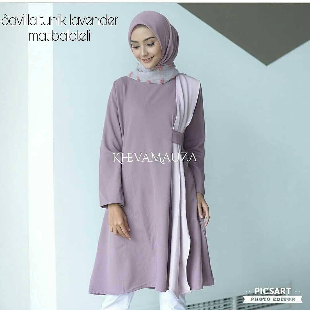 OEM Baju Original Savila Tunik Balotely Atasan Wanita Muslim Modern Pakaian Cewek Fashion Muslimah Panjang Trend 2018