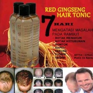 Red Ginseng Hair Tonic 100% ASLI Original Korea - Vitamin Rambut Rontok Botak - Red Ginseng Hair Tonic - Korean Red Ginseng - Obat Penumbuh Rambut Botak - Obat Penyubur Rambut - Penumbuh Rambut Cepat - Penumbuh Rambut Botak - Perawatan Rambut Rontok thumbnail
