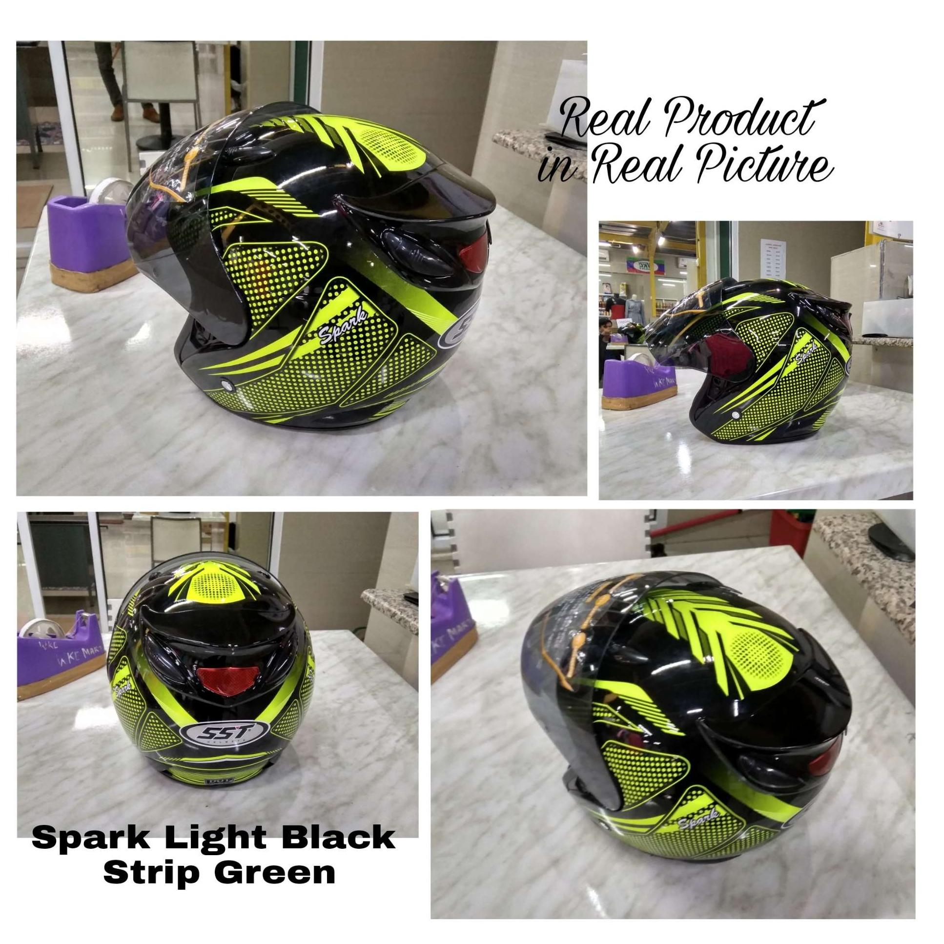 Harga Jual New Helm Retro Bogo Dengan Kulit Sni Wanita Motif Paris Untuk Dewasa Pria Dan Light Black Spark