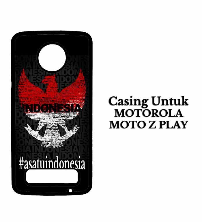 Casing MOTOROLA MOTO Z PLAY Garuda satu indonesia Hardcase Custom Case Snitchshop