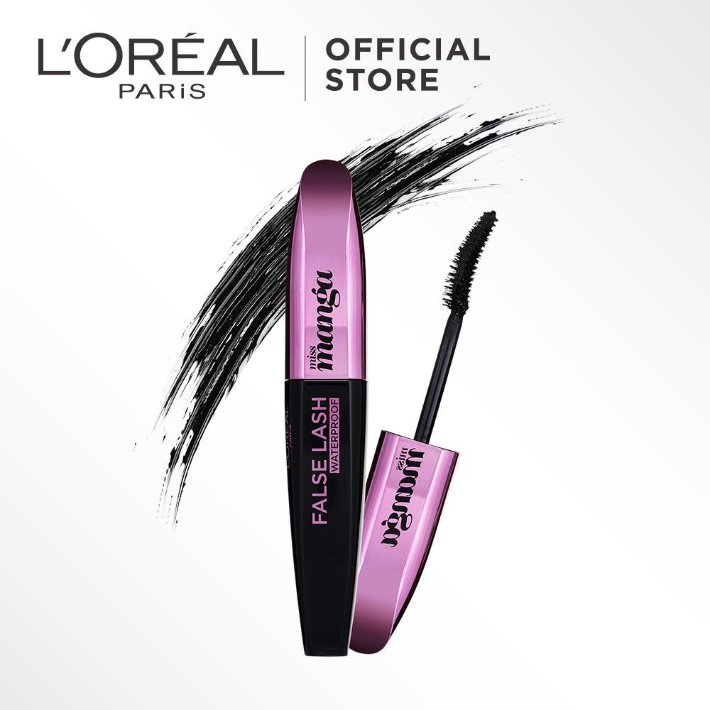 L'Oreal Paris False Lash Miss Manga Mascara -  by L'Oreal Paris Makeup | Maskara Loreal Hitam Padat / Compact Powder Lentik Tebal  Waterproof Tahan Air