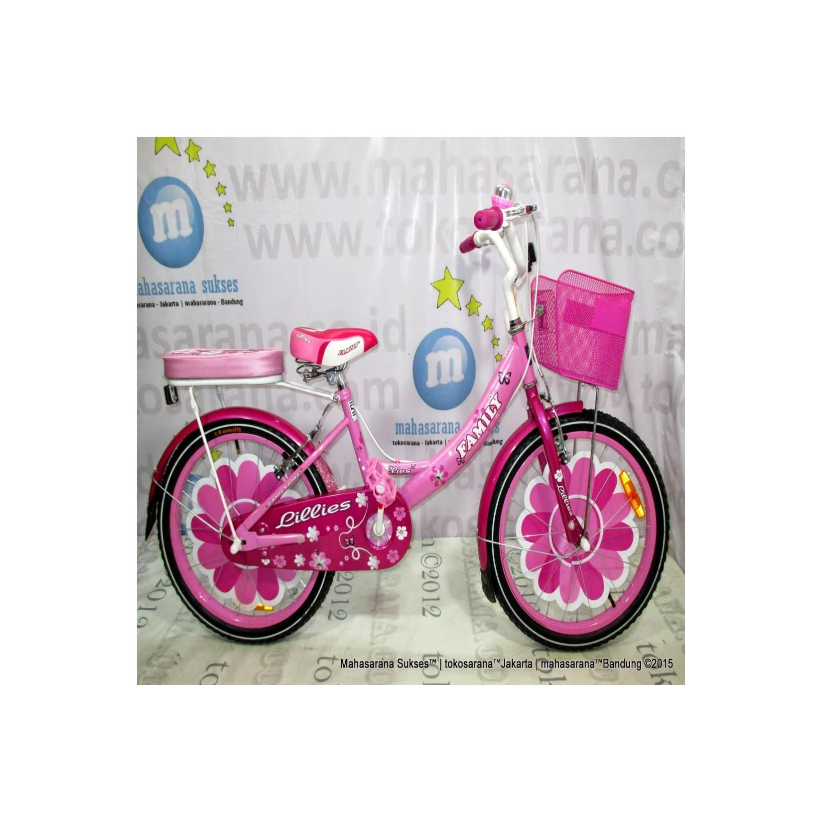 16in Family Lilies CTB Sepeda Anak Perempuan Usia 4 - 7 Tahun