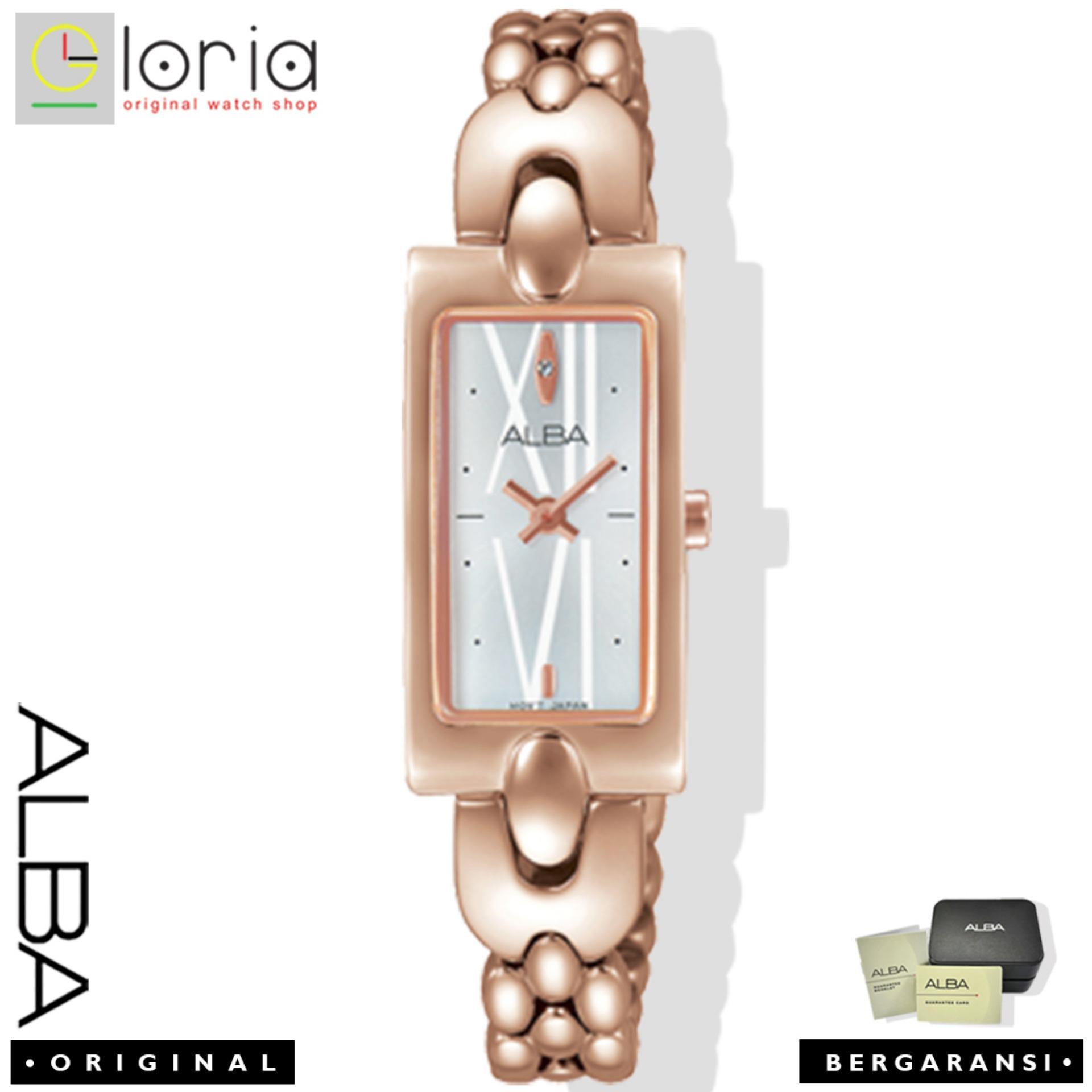 Alba Fashion Jam Tangan Wanita - Tali Stainless Steel - Gold - AEGD36X1 dc86a1cc48