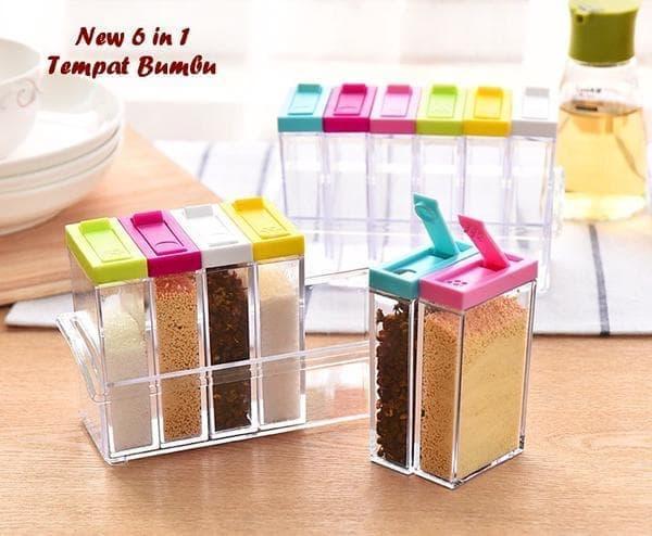 Best Seller!! Tempat Bumbu Masak Transparan 6 In 1 - Seasoning Transparent Boxes - ready stockIDR73000. Rp 73.000