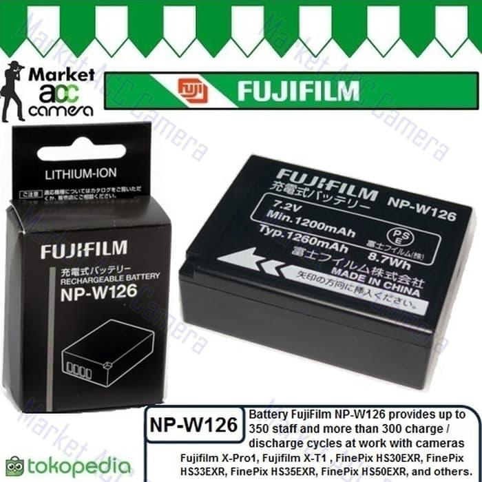 Battery Fujifilm NP-W126 for FinePix HS30EXR/HS33EXR/HS35EXR/HS50EXR TERLARIS