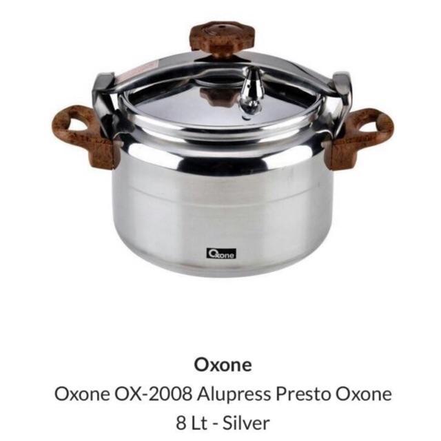 Oxone Panci Presto Cooker BERAT HANYA 2 KG OX 2008 OX-2008 8Liter 8 Liter Murah Grosir Diskon Variasi Ox 8L + bubble wrap