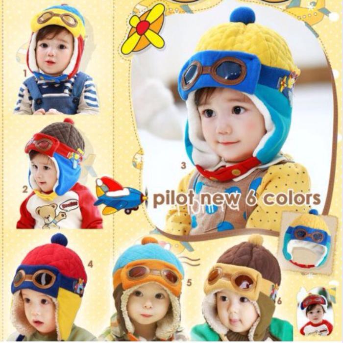 Topi Pilot Hat baby lucu balita anak keren unik 08bab669d2