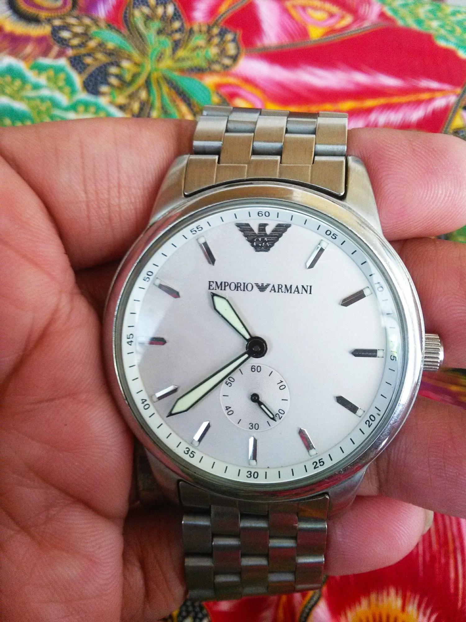 Jam Tangan 2nd Emporio Armani Silver Ori