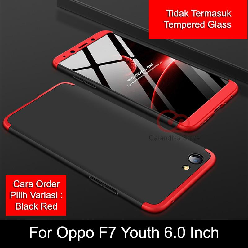 Calandiva Premium Front Back 360 Degree Full Protection Case for Oppo F7 Youth 6.0 Inch