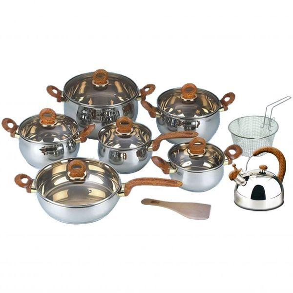 Graha FE Set Panci Wajan Stainless Steel - Classic Cookware Set Oxone OX-966