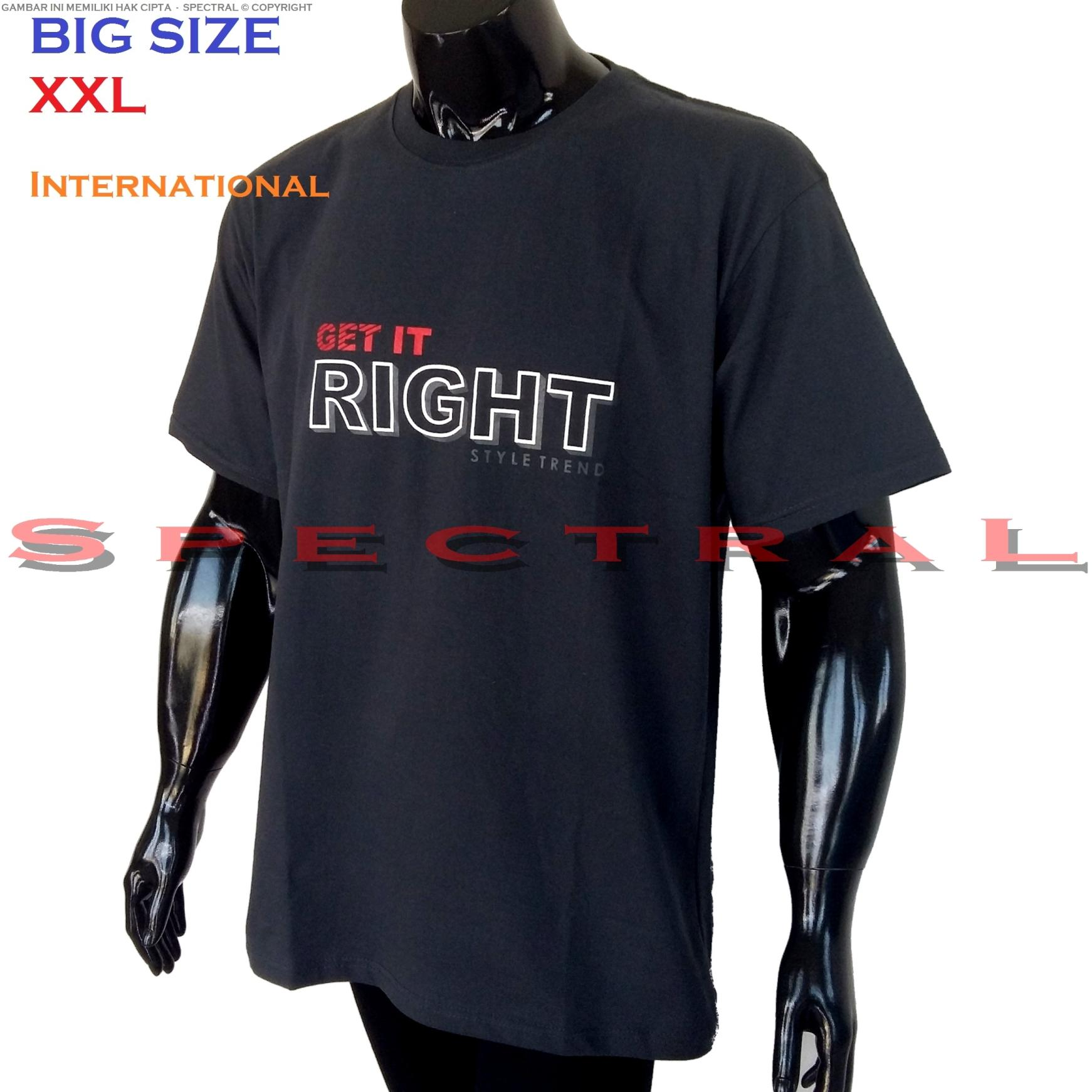 Spectral – BIG SIZE XXL INTERNATIONAL 100{55e037da9a70d2f692182bf73e9ad7c46940d20c7297ef2687c837f7bdb7b002} Soft Cotton Combed Kaos Distro Jumbo BIGSIZE T-Shirt Fashion Ukuran Besar Polos Celana Atasan Pria Wanita Katun Bapak Orang Tua Gemuk Gendut Lengan Simple Sport Casual 2L 2XL Baju Cowo Cewe Pakaian Terbaru