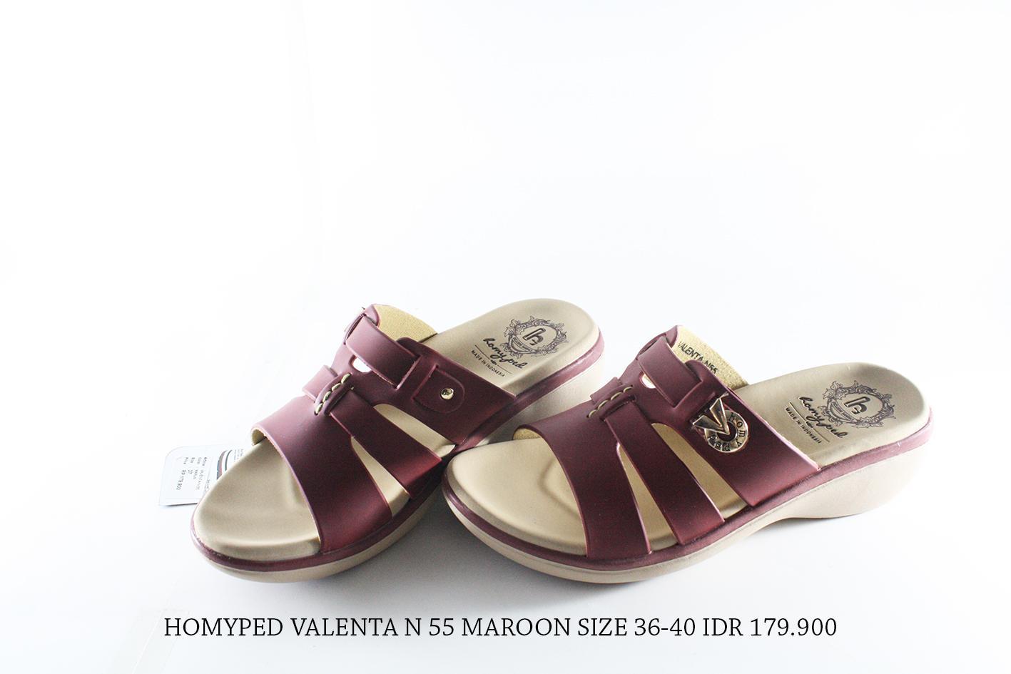 homyped valenta 55 sandal casual wanita maroon