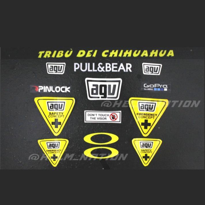 Paket Stiker Visor Helm AGV Tribu Dei Chihua Hua