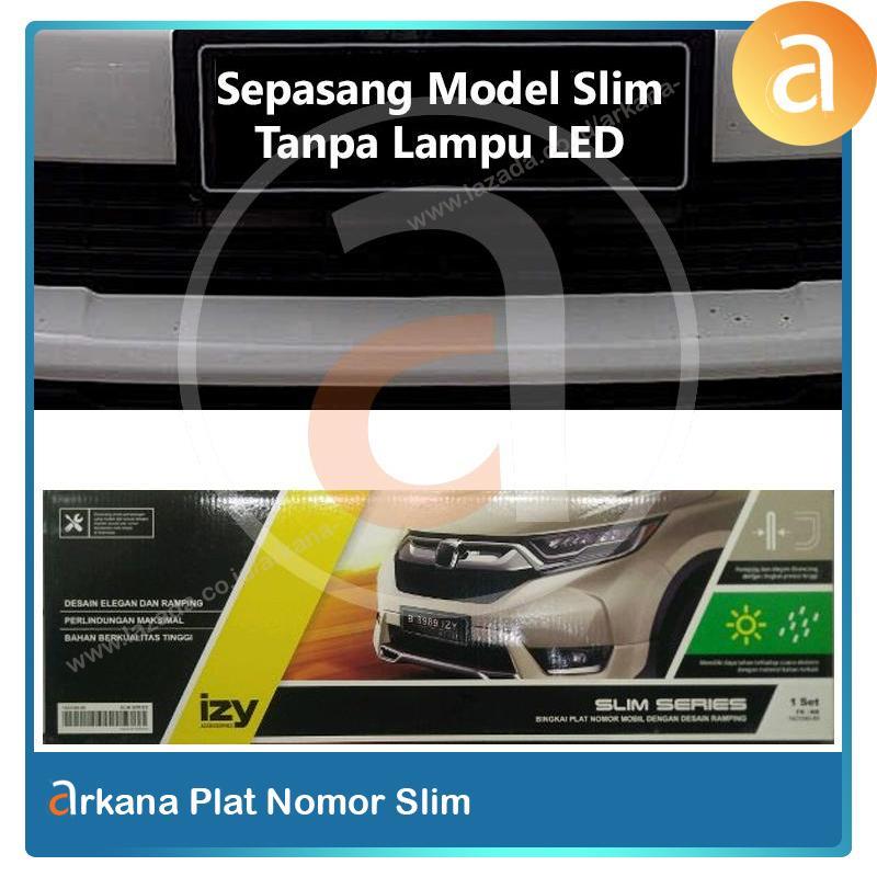 Arkana Dudukan Plat Nomor Mobil Akrilik Izy Ukuran 46cm Model Slim By Arkana.