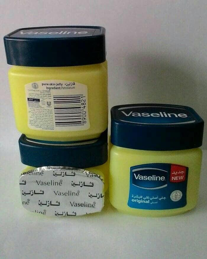 Vaseline Pure Petroleum Jelly 60ML - Vaselin 100% Asli Made In Arab